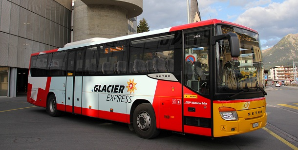 Glacier Express Bus Front Post
